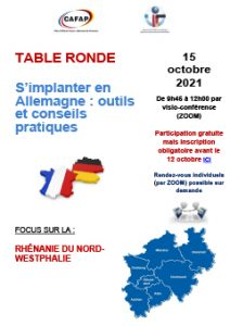 Table ronde CAFAP 15.10.2021